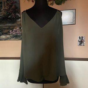 Jessica Simpson cold shoulder peasant blouse